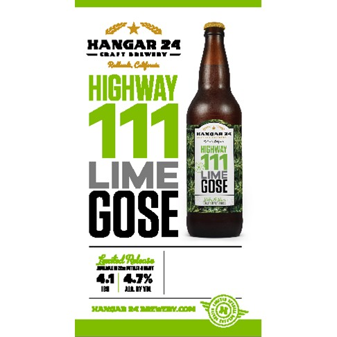 Hangar 24 Highway 111 Lime Gose bottle BeerPulse