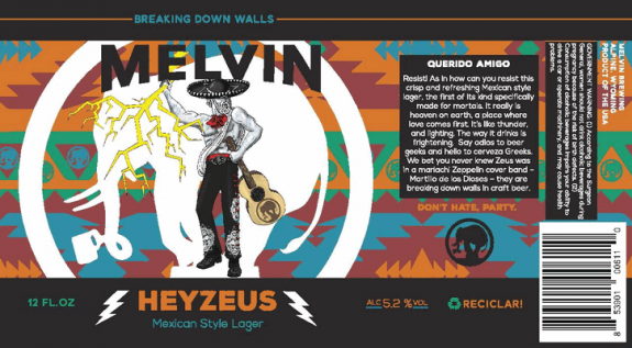 Melvin Brewing Heyzeus label BeerPulse