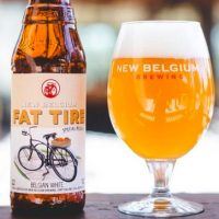 New Belgium Fat Tire Belgian White Glass