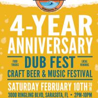 JDub's 4 Year anniversary poster BeerPulse