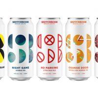 Sketchbook Portfolio 2017 cans BeerPulse