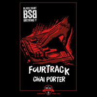 Black Shirt Fourtrack Chai Porter label BeerPulse