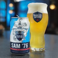Sam '76 can and glass BeerPulse
