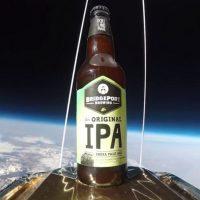 BridgePort IPA beer bottle in space BeerPulse